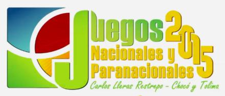 2015 – Juegos Nacionales y Paranacionales – Colombia